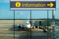 Information at airport Stock Photos