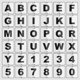Information alphabet and digits Stock Photos