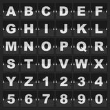 Information alphabet and digits Royalty Free Stock Photography
