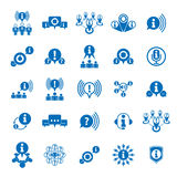 Information analyzing collecting and exchange theme icon set, an. Alyze and solution, vector conceptual unusual symbols for your design vector illustration