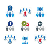 Information analyzing collecting and exchange theme icon set, an Royalty Free Stock Photography