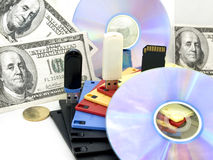 Information-argent Photos libres de droits
