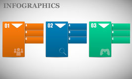 Information av olika färger med nummer och texten, uppercase och enkelt Royaltyfri Bild