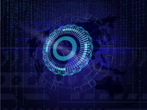 Information background with earth and binary code Royalty Free Stock Photography