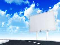 Information banner and road Royalty Free Stock Photo