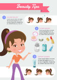 Information for beauty tips. Stock Image