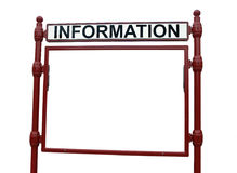 Information billboard Stock Photography