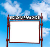 Information billboard Royalty Free Stock Images