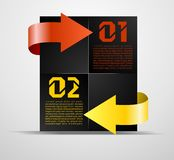 Information block with pointers. Vector illustration Vector Illustration