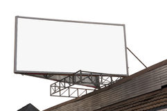 Information board. Blank advertisment board on the roof stock images