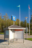 Information board. With the flags of Sweden and Denmark Royalty Free Stock Photos