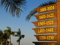 Information board. About placement of rooms in hotel territory Stock Image