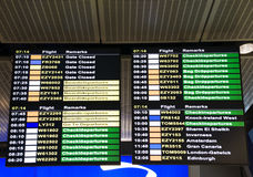 Information board at airport stock illustration