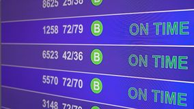 Information board in airport with info `Crashed`. Information board in airport, arrivals scoreboard with info - Crashed. Illustration for news about plane crash vector illustration