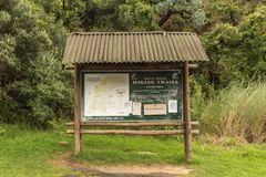 Free Information Board At The Start Of Tugela Gorge Hiking Trail Royalty Free Stock Image - 119583786