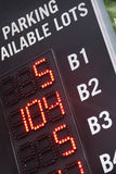 Information board - Available parking Royalty Free Stock Images