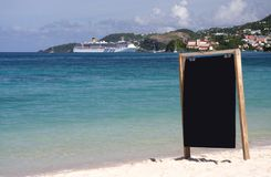 Information board on the beach Royalty Free Stock Images