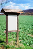 Information board, blank, in Nature Stock Images