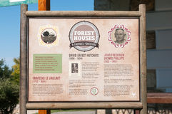 Information board at Diepwalle on famous foresters Royalty Free Stock Photography
