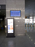 Information board of High-speed railway station Stock Photos