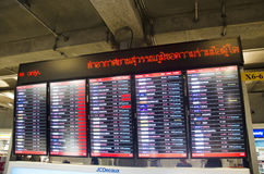 Information board of Suvarnabhumi international airport for peop Stock Photography