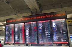 Information board of Suvarnabhumi international airport for peop Royalty Free Stock Images