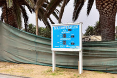 Information board in Swakopmund, Namibia Royalty Free Stock Photo