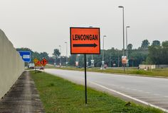 Information boards on highway stock image