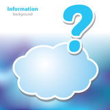 Information boards - Question mark - symbol cloud Stock Photo