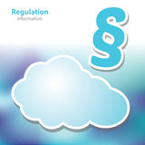 Information boards - regulation - decree - symbol cloud - blank Royalty Free Stock Photography