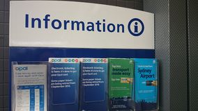 Information booklets at station Stock Photo