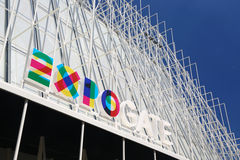 Information building for Expo 2015 in Milan Stock Photography