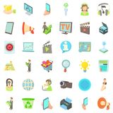 Information business icons set, cartoon style. Information business icons set. Cartoon style of 36 information business vector icons for web isolated on white Royalty Free Stock Photography