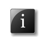 Information  button in 3D Royalty Free Stock Photos