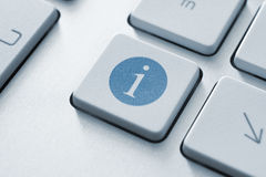 Information button. Button on a modern keyboard with information icon symbol Royalty Free Stock Photos