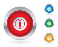 Information button set stock illustration