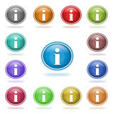 Information buttons Stock Photos