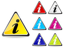 Information buttons Stock Images