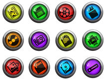 Information carriers icons set Royalty Free Stock Images