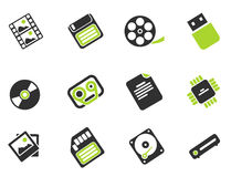 Information carriers icons Royalty Free Stock Photo