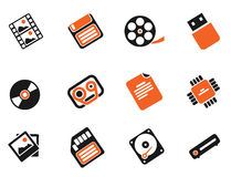 Information carriers icons Stock Photos