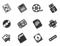 Information carriers icons Stock Image