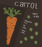 Information of carrot, nutrition facts  concept Royalty Free Stock Image