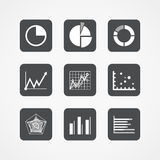 Information chart icons collection Royalty Free Stock Photo