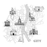 Information city map Royalty Free Stock Photography