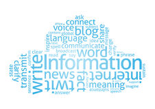 Information Cloud. Cloud of Words (related to writing and language Stock Images
