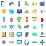 Information cloud icons set, cartoon style Stock Photography