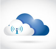 Information cloud. illustration design Royalty Free Stock Images