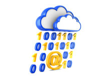 Information cloud Internet and information stream Royalty Free Stock Image