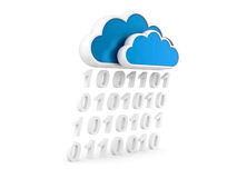Information cloud Internet and information stream Stock Image